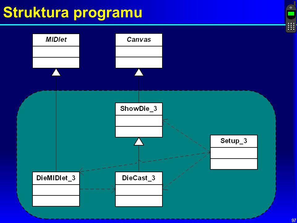 97 Struktura programu