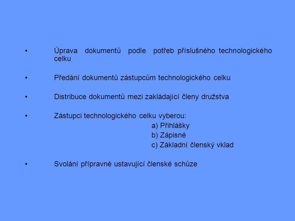 •Úprava dokumentů podle potřeb příslušného technologického celku •Předání dokumentů zástupcům technologického celku •Distribuce dokumentů mezi zakláda