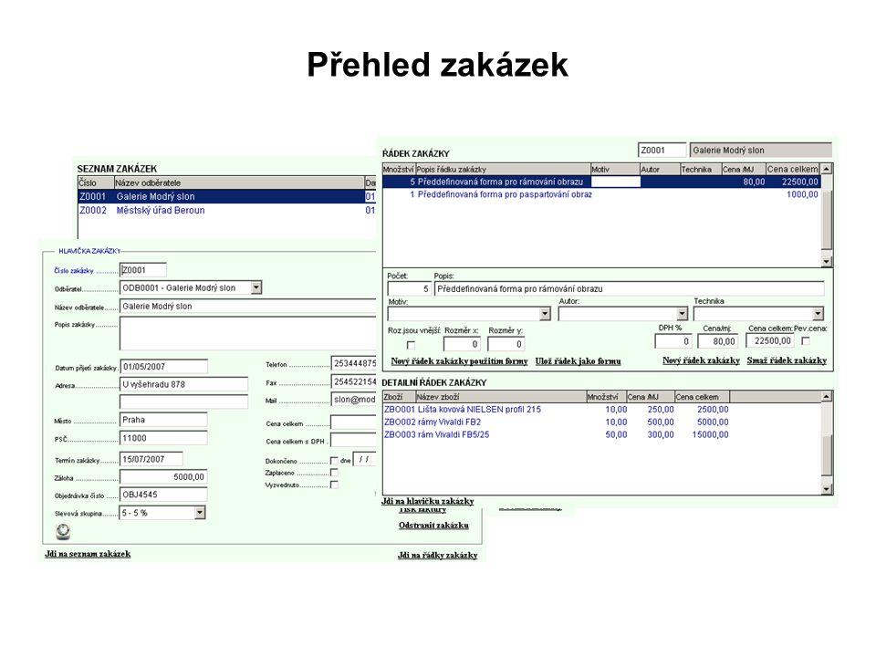 Tato pomocná funkcionalita slouží k uchování důležitých informací jež je třeba znát k zakázce.