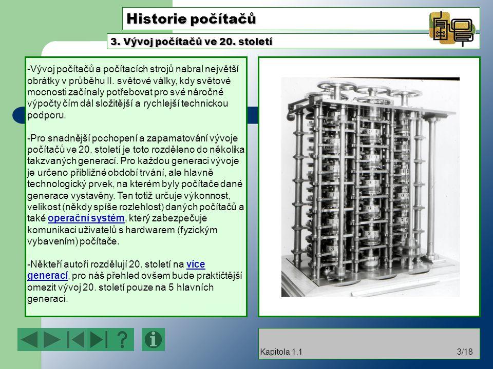 Historie počítačů -Vývoj počítačů a počítacích strojů nabral největší obrátky v průběhu II.