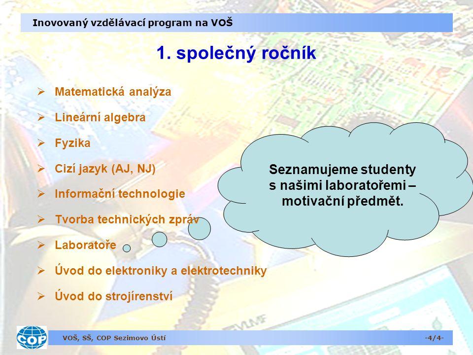 VOŠ, SŠ, COP Sezimovo Ústí Inovovaný vzdělávací program na VOŠ 1.