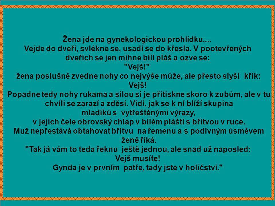 Blondýnka píše dopis z nemocnice:
