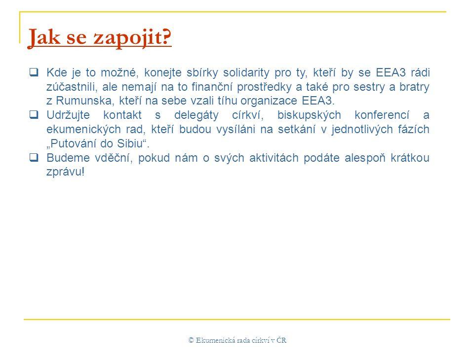 © Ekumenická rada církví v ČR Jak se zapojit.