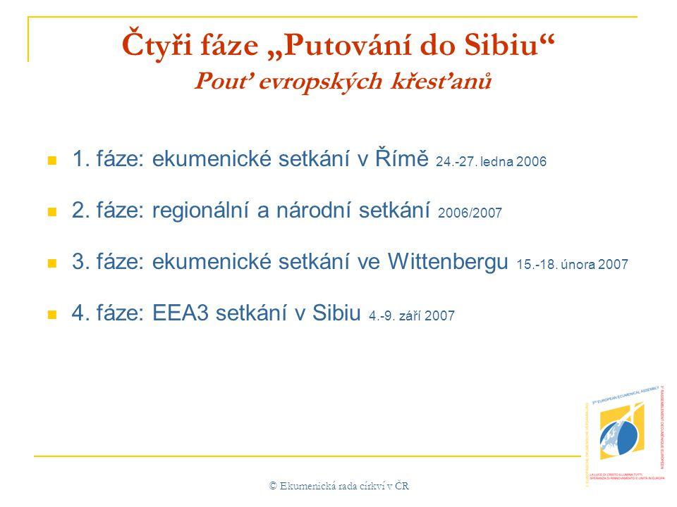 """© Ekumenická rada církví v ČR Čtyři fáze """"Putování do Sibiu Pouť evropských křesťanů  1."""