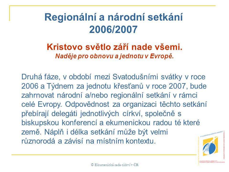 © Ekumenická rada církví v ČR Kristovo světlo září nade všemi.