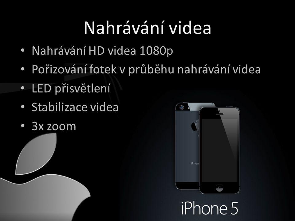 Nahrávání videa • Nahrávání HD videa 1080p • Pořizování fotek v průběhu nahrávání videa • LED přisvětlení • Stabilizace videa • 3x zoom