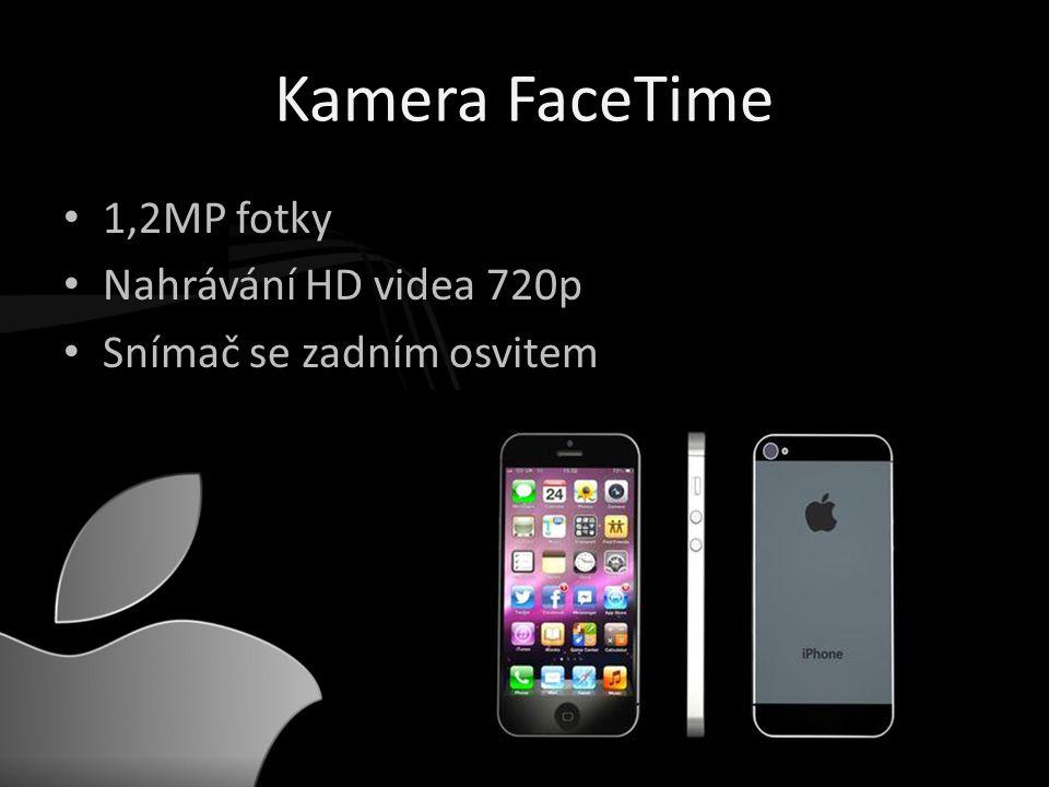 Kamera FaceTime • 1,2MP fotky • Nahrávání HD videa 720p • Snímač se zadním osvitem