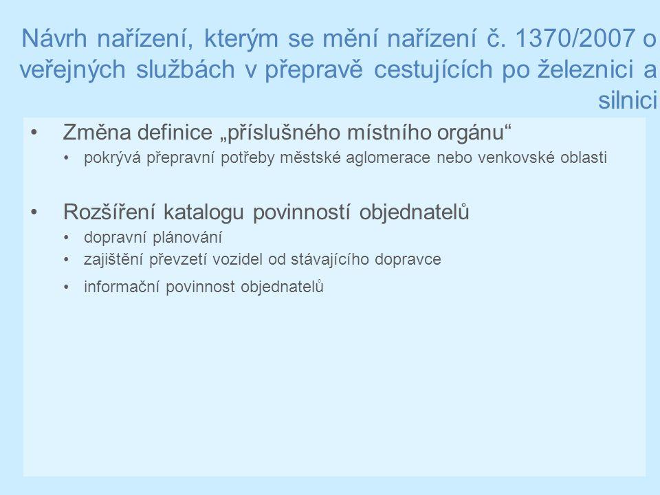 Návrh nařízení, kterým se mění nařízení č.
