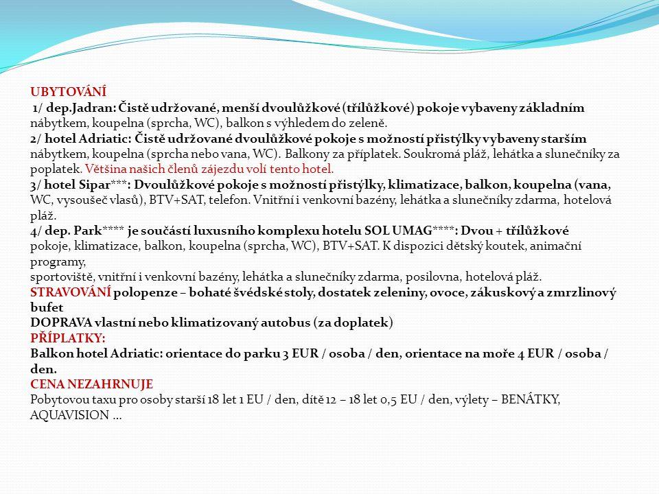 Pořadatel zájezdu: CK Zdraví, Vodárenská 502, 273 61 Velká Dobrá, telefon: 777 786 878 e-mail: kancelar@cestakezdravi.cz www.cestakezdravi.cz CK Zdraví má sjednáno pojištění proti úpadku ve smyslu zákona č.