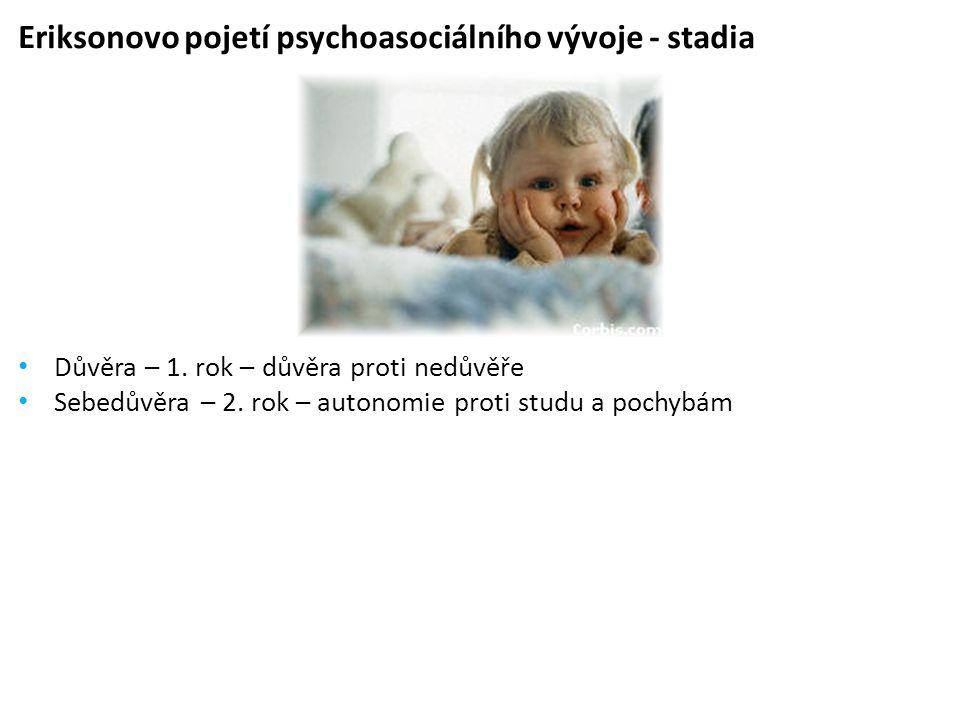 Eriksonovo pojetí psychoasociálního vývoje - stadia • Důvěra – 1.