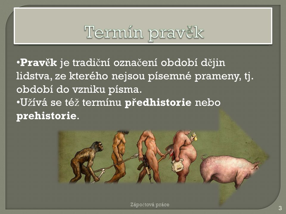 2 Doba kamennáDoba kamenná (cca 3 miliony let p ř.