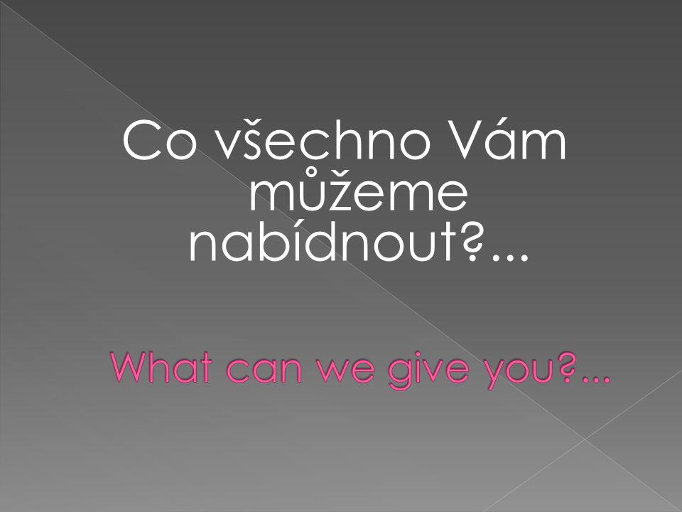 Co všechno Vám můžeme nabídnout?...