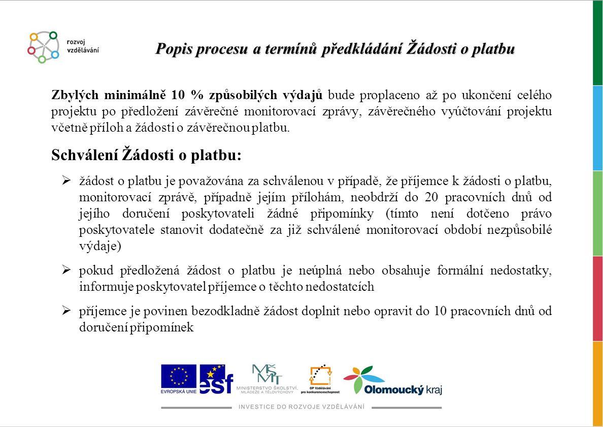 """Vytvoření Žádosti o platbu Po přihlášení k webové žádosti Benefit7 se v modrém sloupci na levé straně obrazovky vybere záložka """"Konto projektů a vstoupí se do projektů, které jsou předané do Monit7+."""