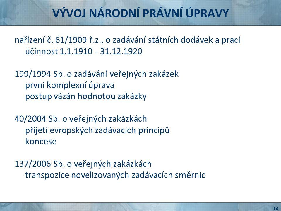 ZÁKON O VEŘEJNÝCH ZAKÁZKÁCH zákon č.137/2006 Sb.