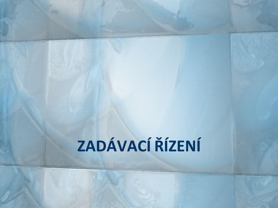 DRUHY ZADÁVACÍHO ŘÍZENÍ otevřené řízení užší řízení jednací řízení s uveřejněním jednací řízení bez uveřejnění soutěžní dialog zjednodušené podlimitní řízení 142