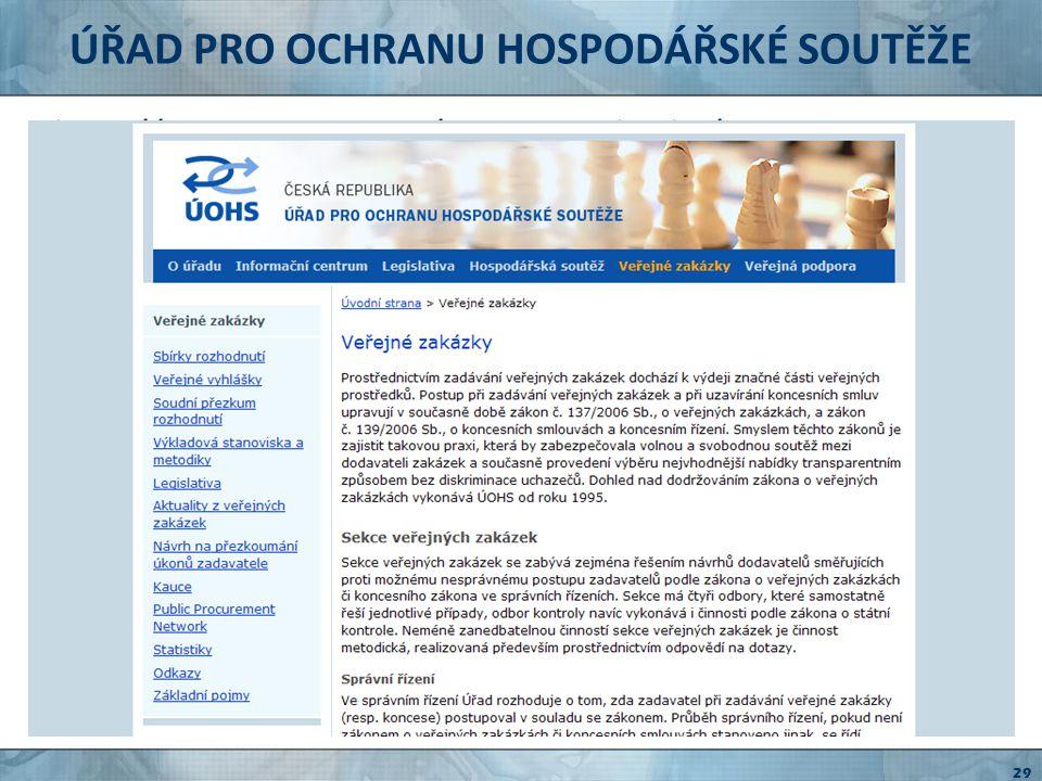 PORTÁL VEŘEJNÝCH ZAKÁZEK http://www.portal-vz.cz stránky provozované MMR legislativa metodika stanoviska odkazy na informační systémy e-learning Info-forum 30