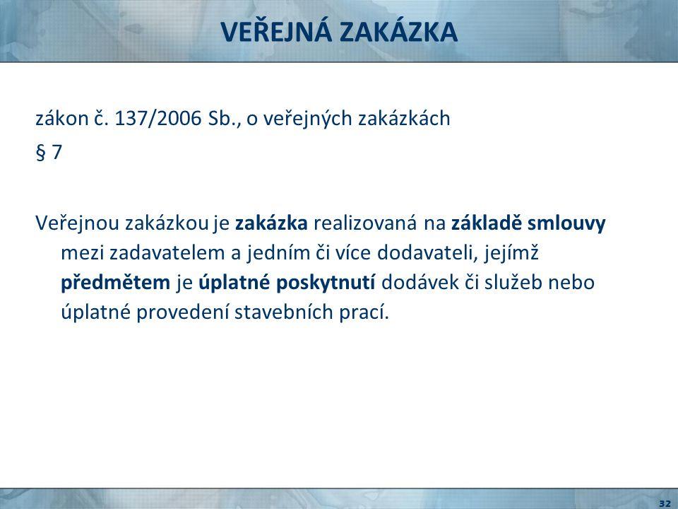ZÁKON O VEREJNOM OBSTARÁVÁNÍ zákon č.25/2006 Zb.