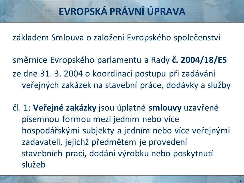SMĚRNICE Č.18/2004 čl.