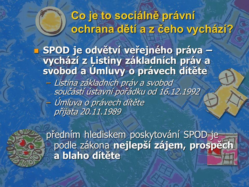 Zákony související se SPOD n Zákon o rodině č.94/1963 Sb.