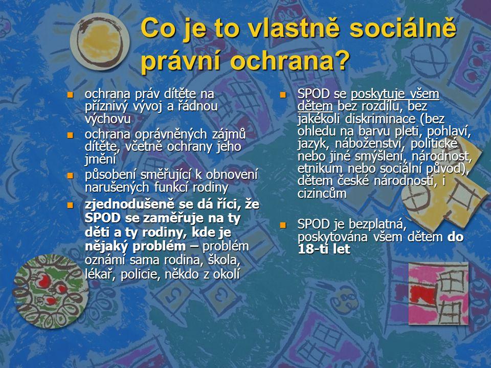 Co je to vlastně sociálně právní ochrana.