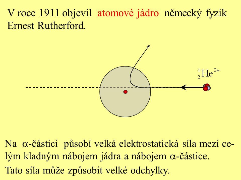 Na  -částici působí velká elektrostatická síla mezi ce- lým kladným nábojem jádra a nábojem  -částice. Tato síla může způsobit velké odchylky. V roc