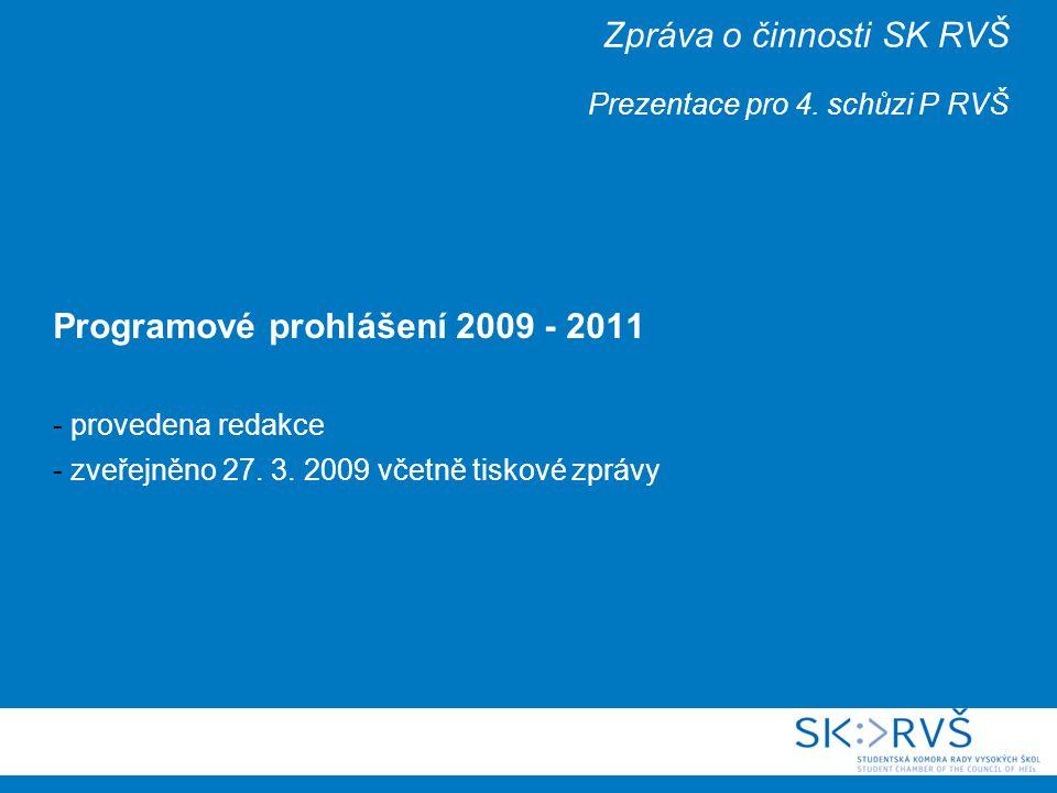 Zpráva o činnosti SK RVŠ Prezentace pro 4.