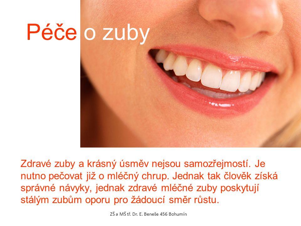 Zdravé zuby a krásný úsměv nejsou samozřejmostí. Je nutno pečovat již o mléčný chrup. Jednak tak člověk získá správné návyky, jednak zdravé mléčné zub