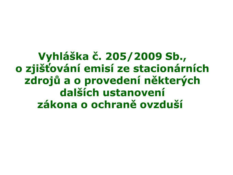 Obecné emisní limity  Příloha č.