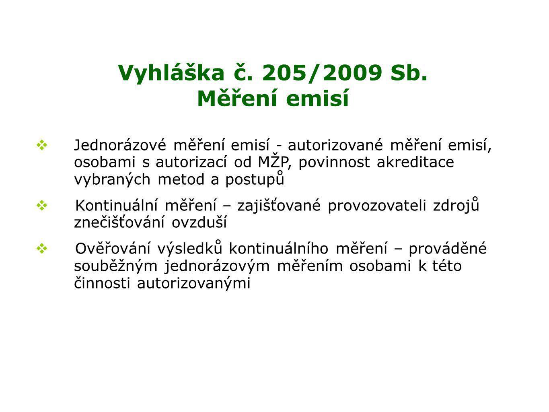 Vyhláška č.205/2009 Sb.