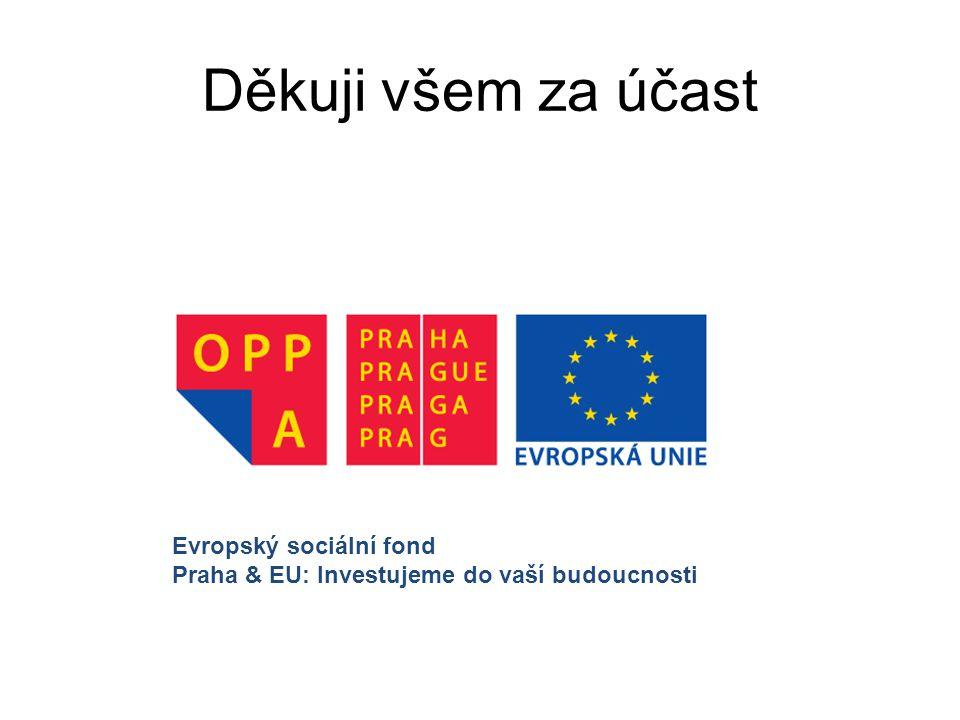 Děkuji všem za účast Evropský sociální fond Praha & EU: Investujeme do vaší budoucnosti