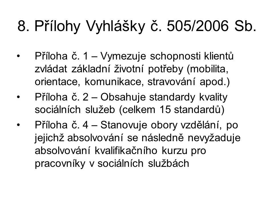 8.Přílohy Vyhlášky č. 505/2006 Sb. •Příloha č.