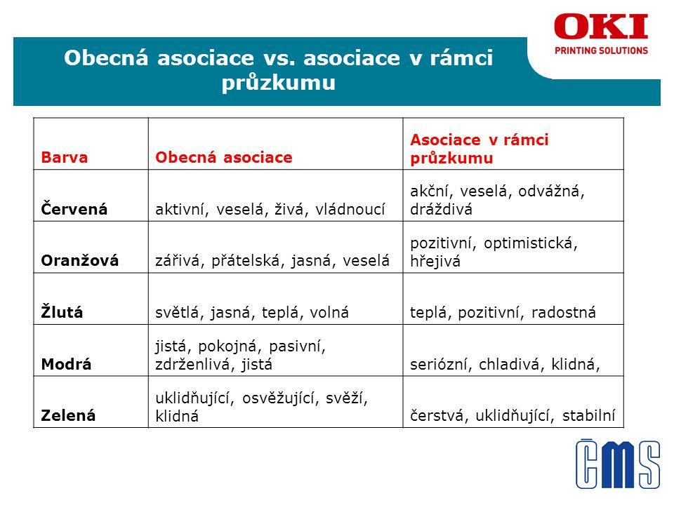 Obecná asociace vs.