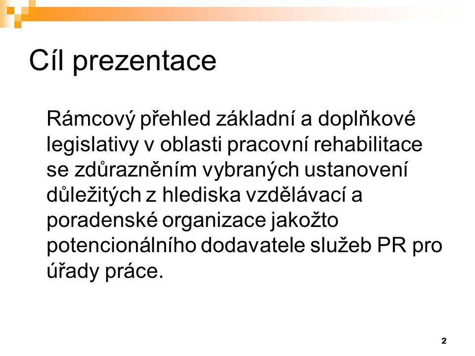 13 Náklady účastníka pracovní rehabilitace.§ 4 Vyhlášky č.518/2004 Sb.