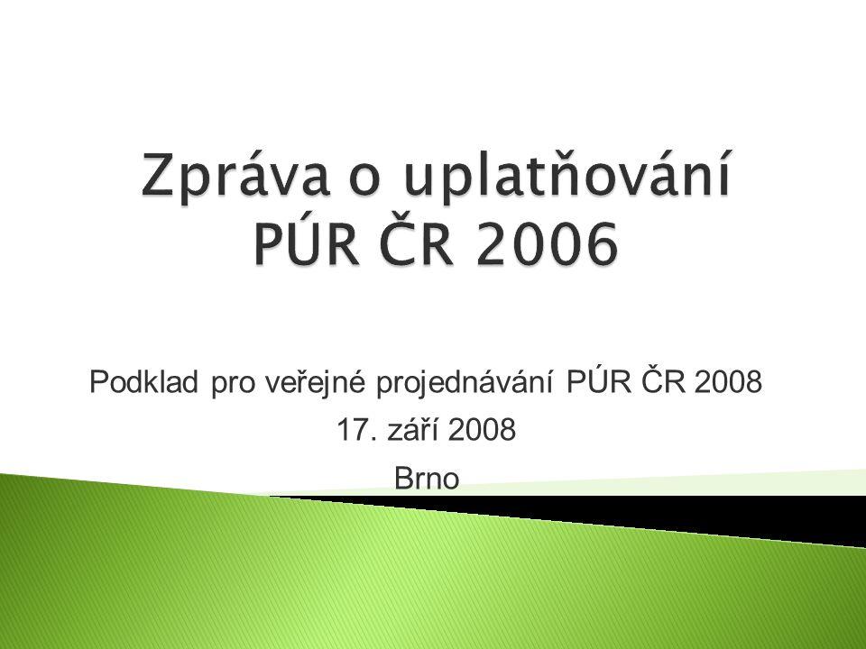 Podklad pro veřejné projednávání PÚR ČR 2008 17. září 2008 Brno