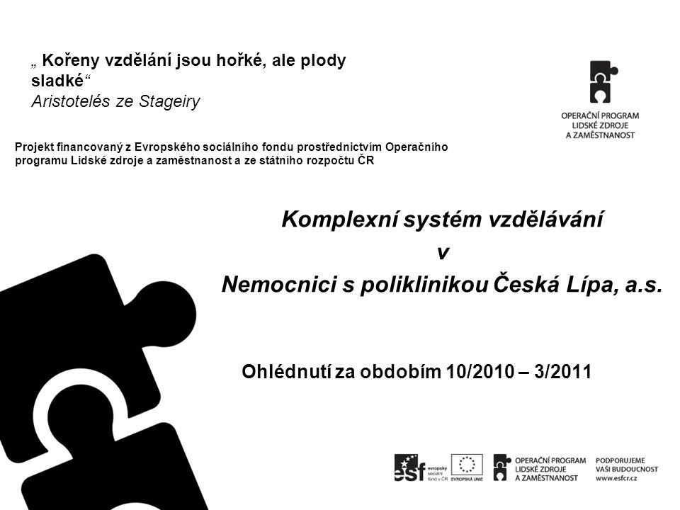 Projekt financovaný z Evropského sociálního fondu prostřednictvím Operačního programu Lidské zdroje a zaměstnanost a ze státního rozpočtu ČR Ohlédnutí