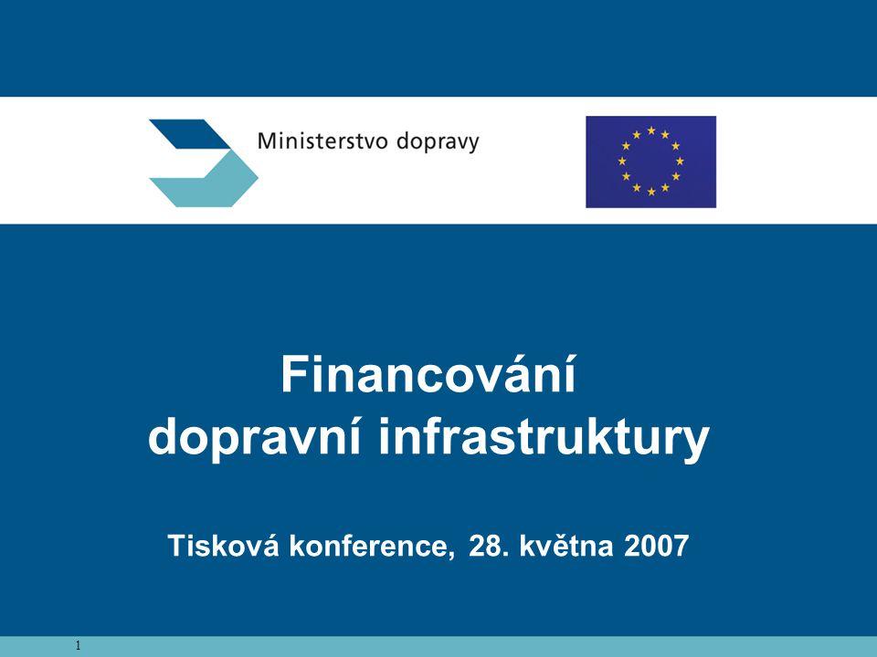 1 Financování dopravní infrastruktury Tisková konference, 28. května 2007