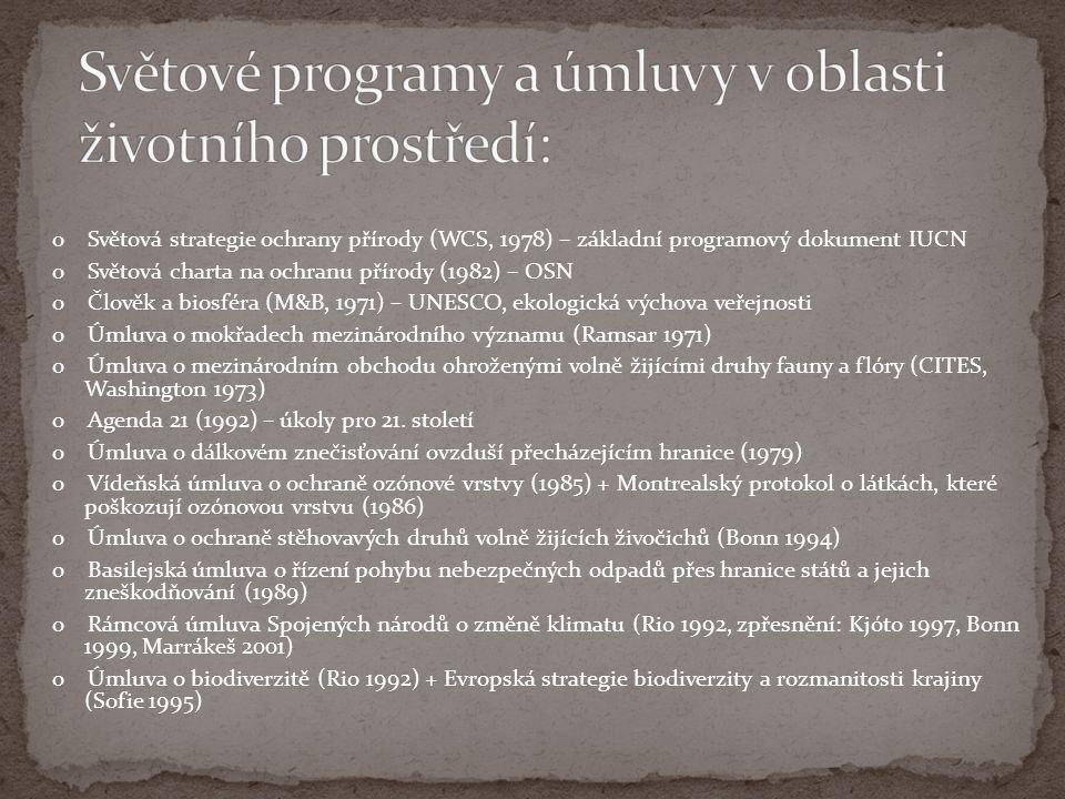  první biosférické rezervace začaly na území bývalého Československa vznikat již koncem 70.