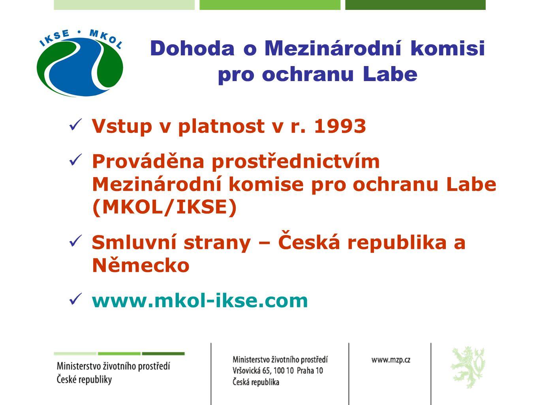  Vstup v platnost v r. 1993  Prováděna prostřednictvím Mezinárodní komise pro ochranu Labe (MKOL/IKSE)  Smluvní strany – Česká republika a Německo