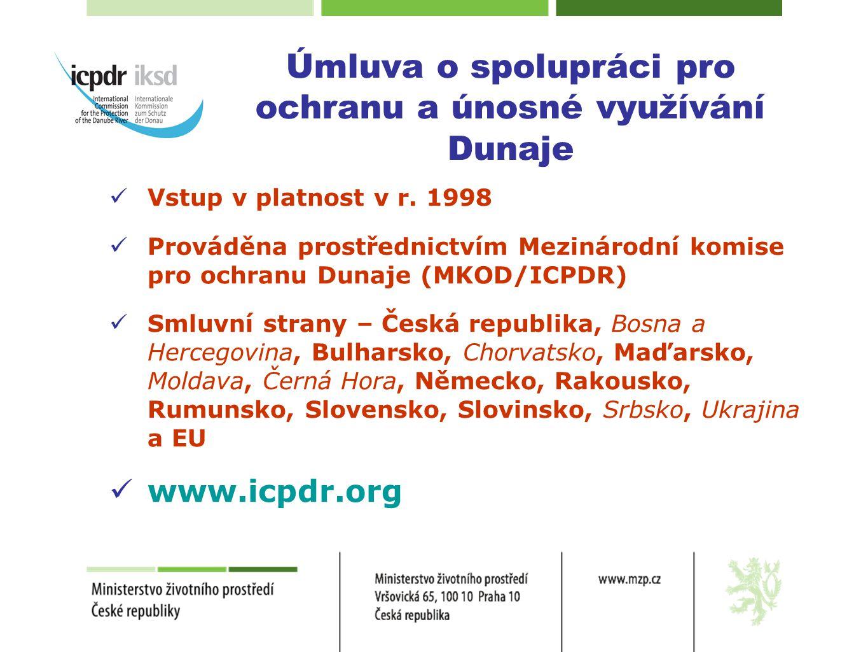  Vstup v platnost v r. 1998  Prováděna prostřednictvím Mezinárodní komise pro ochranu Dunaje (MKOD/ICPDR)  Smluvní strany – Česká republika, Bosna