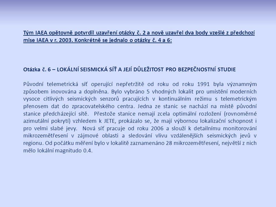 Tým IAEA opětovně potvrdil uzavření otázky č.
