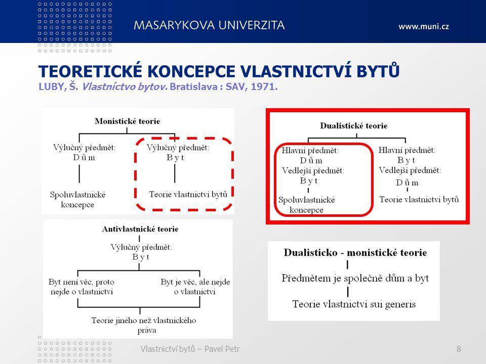 Vlastnictví bytů – Pavel Petr8 TEORETICKÉ KONCEPCE VLASTNICTVÍ BYTŮ LUBY, Š.