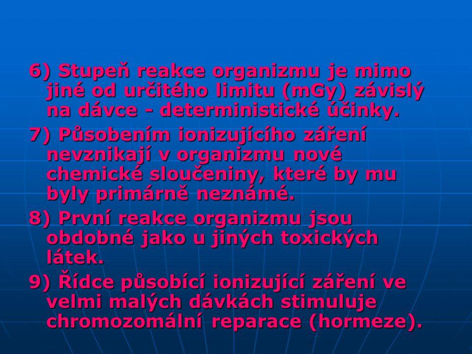 Teorie a účinky významné pro radiační ochranu deterministické stochastickéhormeze 1.