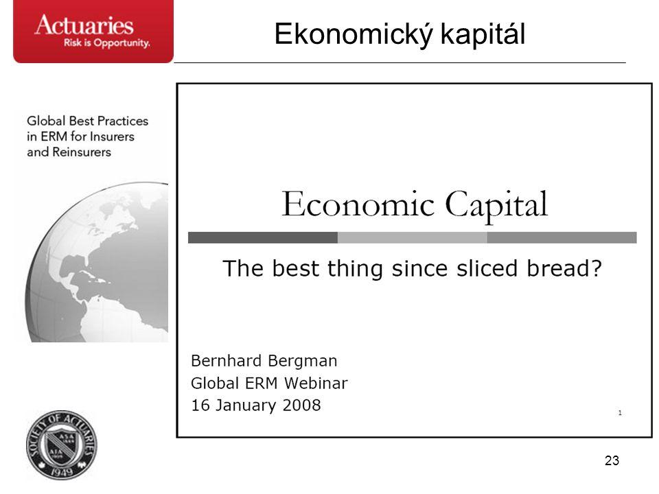 23 Ekonomický kapitál