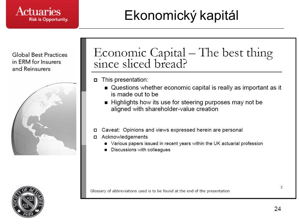 24 Ekonomický kapitál