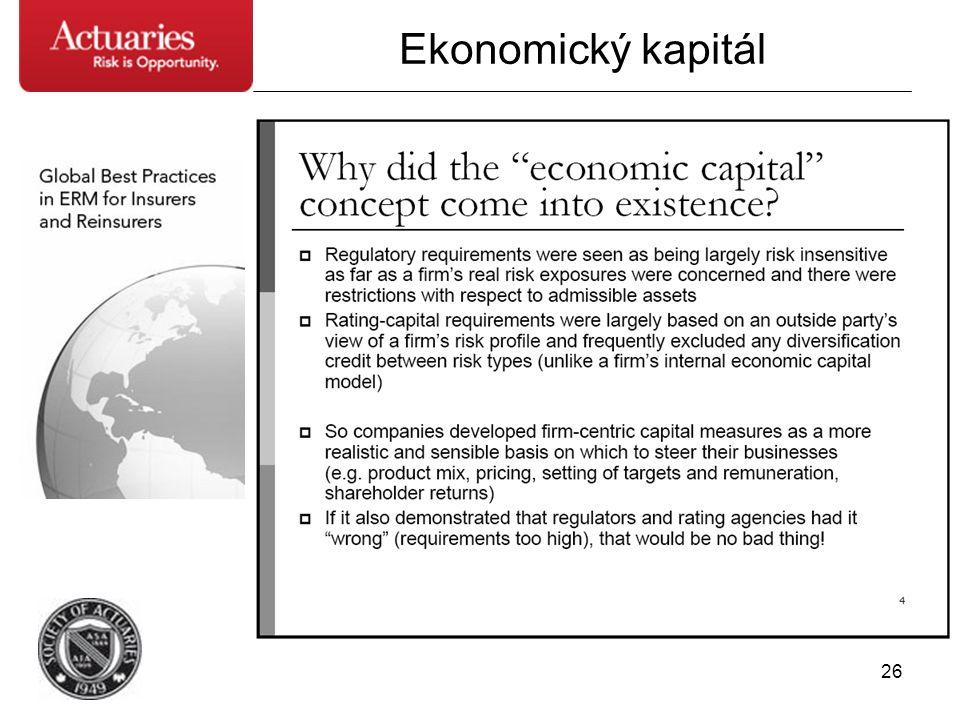 26 Ekonomický kapitál