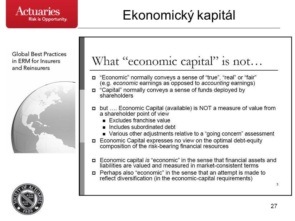 27 Ekonomický kapitál