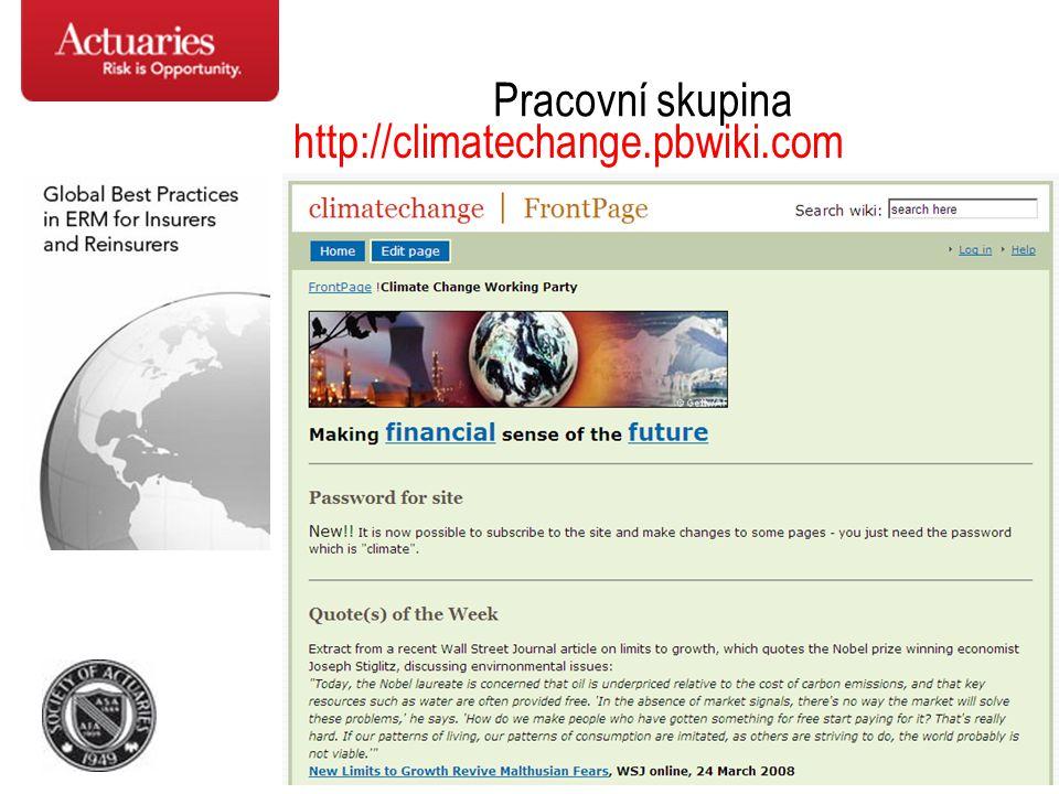 50 Pracovní skupina http://climatechange.pbwiki.com