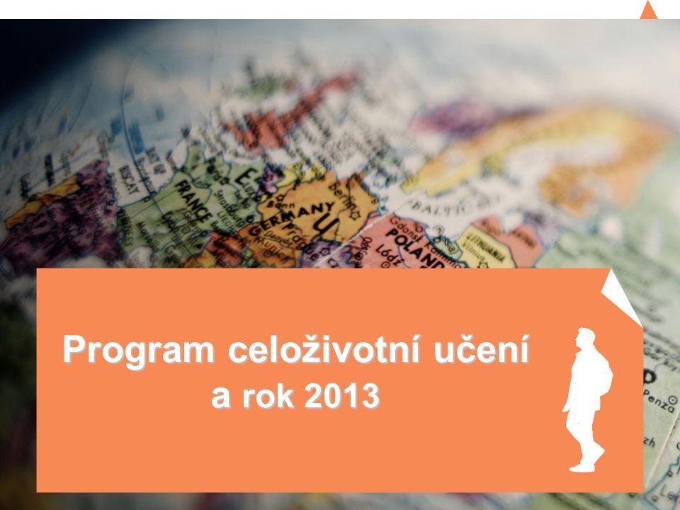 Program celoživotního učení (LLP)  vzdělávací program, který má za cíl podporovat vzdělávání na různých úrovních v rámci mezinárodní spolupráce  schválen rozhodnutím Evropského parlamentu a Evropské rady pro období 2007 – 2013  V České republice zodpovědnost za realizaci LLP -Dům zahraničních služeb/ Národní agentura pro evropské vzdělávací programy