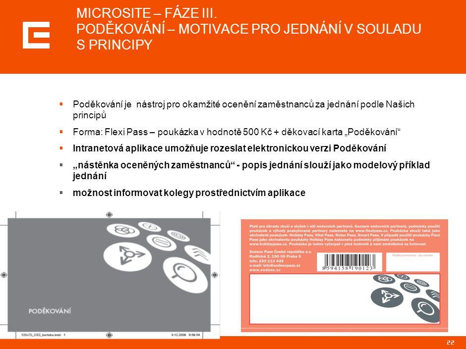 22 MICROSITE – FÁZE III.