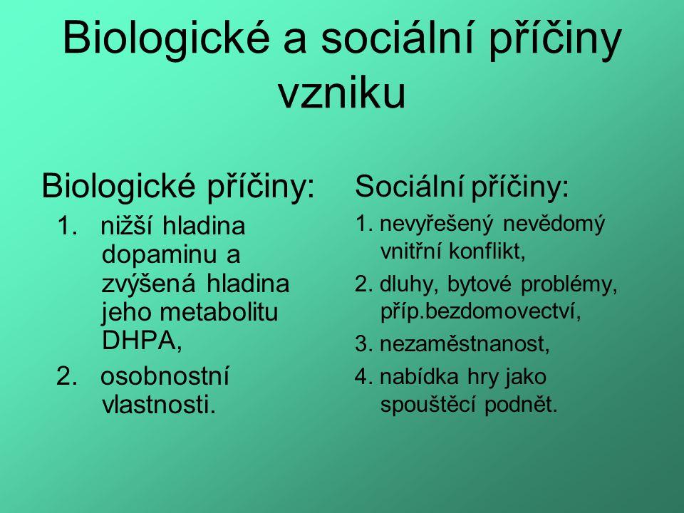 Biologické a sociální příčiny vzniku Biologické příčiny: 1.